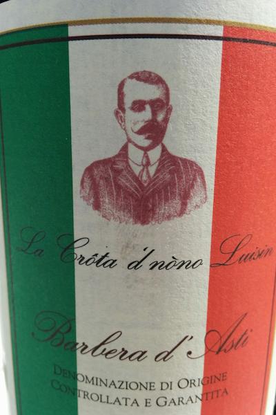 Etichetta di bottiglia di Barbera
